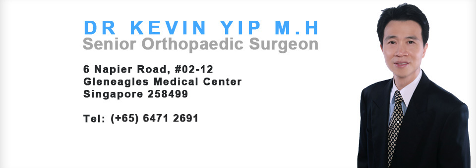 Dr Kevin Yip, Singapore Sports and Orthopaedic Clinic